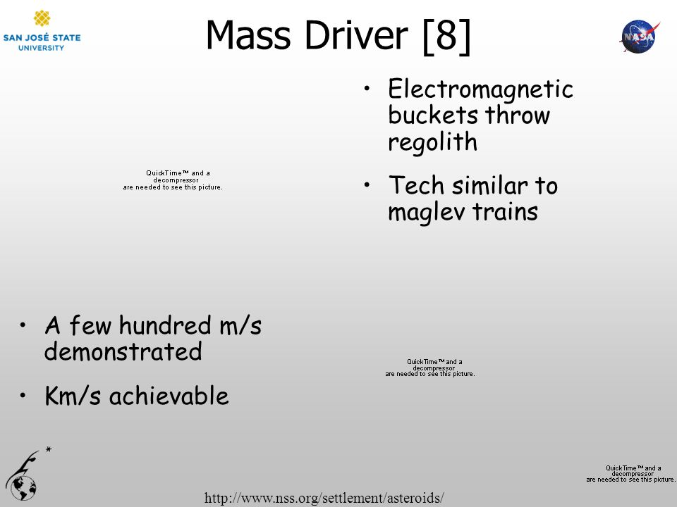 Mass Driver [8] Electromagnetic buckets throw regolith